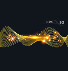 Abstract gold wave vector
