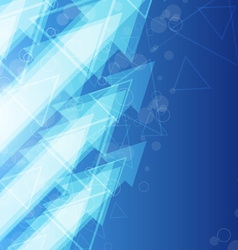 blue arrow abstract background vector image