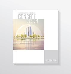Cityscape document template vector