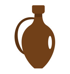 Clay wine jug icon isolated vector