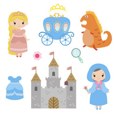 collection of beautiful princesses collection of vector image vector image