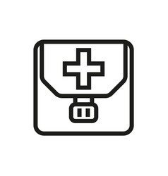 first aid kit icon on white background vector image