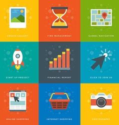 Flat design icons symbols for website vector