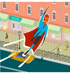 Flight superhero vector image vector image