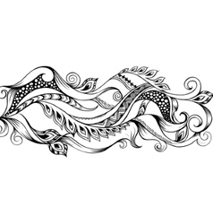 Hand drawn outline abstract background vector image