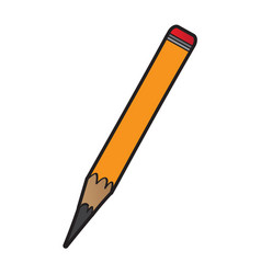 isolated pencil icon vector image vector image