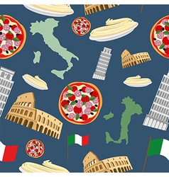 Italian seamless pattern background of the symbols vector