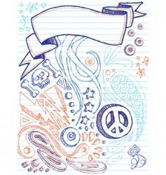 Notebook doodles vector