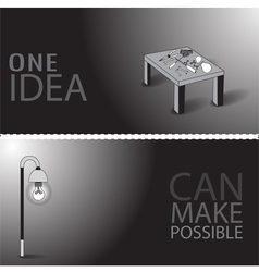One idea can make possible vector image vector image