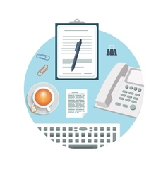 Phone with clipboard and pencil vector image