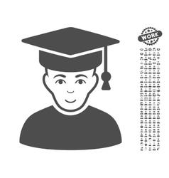 Professor icon with bonus vector
