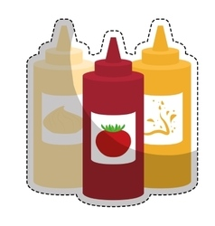 sauce bottle icon vector image