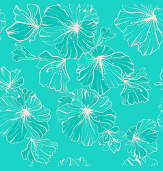 Seamless pattern beige flowers in one paint on a vector