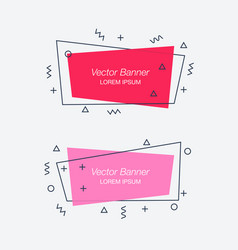 set of trendy flat geometric banners vector image