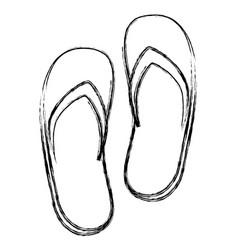 spa flip flops icon vector image