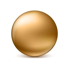Sphere isolated on white vector image vector image