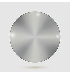 Steel metal badges on white background vector