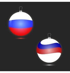 Two christmas ball in the form of the russian flag vector