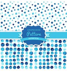 watercolor circles seamless pattern tiled Retro vector image