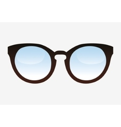 Fashion glasses object design vector