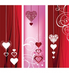 Background with hearts and roses vector
