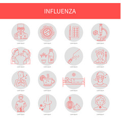 Icons symptoms and prevention of diseases vector