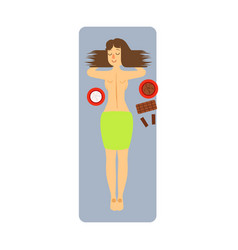 Woman enjoying beauty treatment at the health spa vector