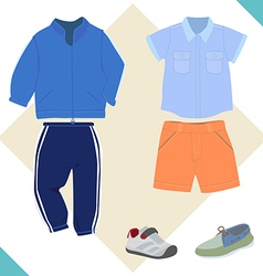 Boy cloth vector