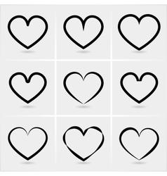 Icons hearts vector