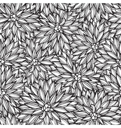 Seamless pattern with flowers Dahlia vector image