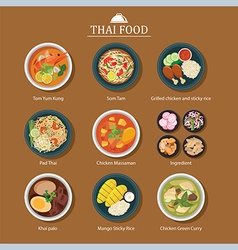 Set of thai food vector