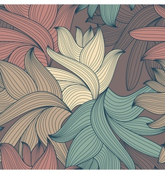 decorative seamless pattern vector image
