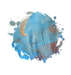 watercolor grunge spot vector image
