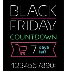 Black friday sale timer vector