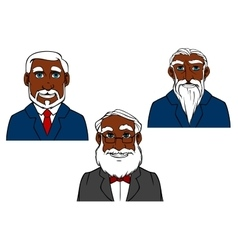 Cartoon old bearded men in elegant suits vector