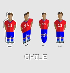Chile soccer team sportswear template vector