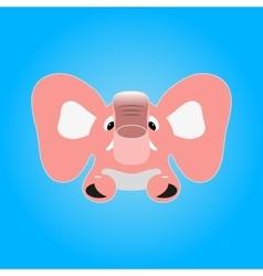 Pink elephant vector image