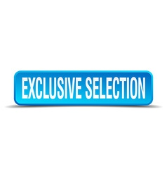 Exclusive selection blue 3d realistic square vector