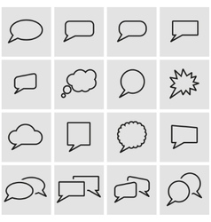 Line speach bubbles icon set vector