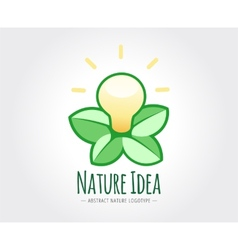 Abstract nature logo template for branding vector image