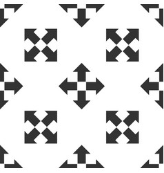 Arrows in four directions icon seamless pattern vector