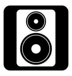 Audio speaker button vector