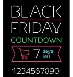Black friday sale timer vector image vector image