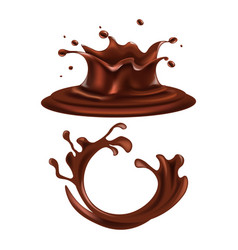 Brown colored splashes vector