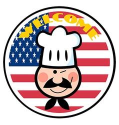 Cartoon chef logo vector