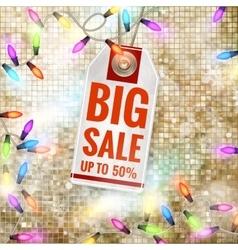 Christmas Sale Tag EPS 10 vector image vector image