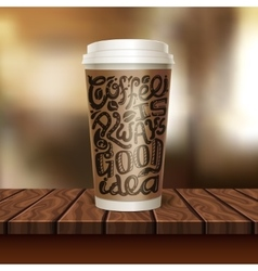Coffee to go cup composition vector