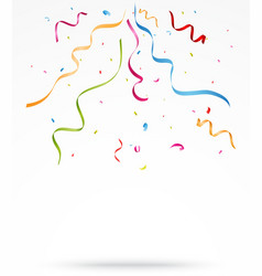 colorful party confetti on white background vector image