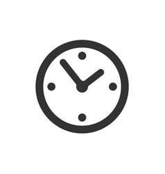 common clock icon isolated vector image vector image