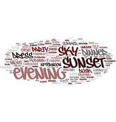 Evening word cloud concept vector